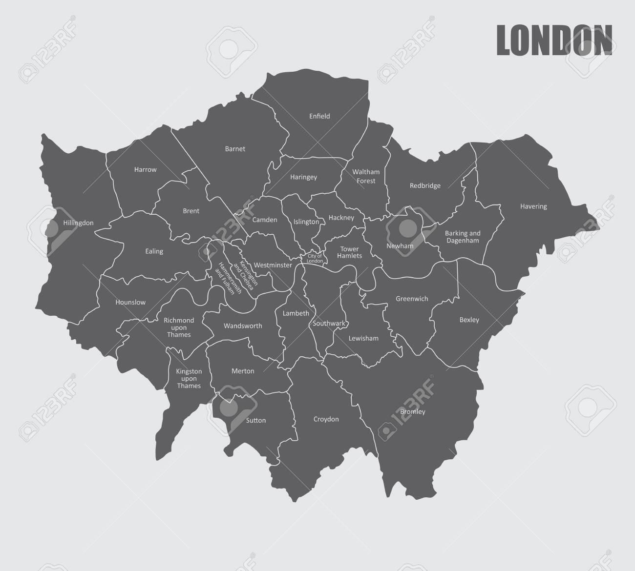 London regions map - 135045523