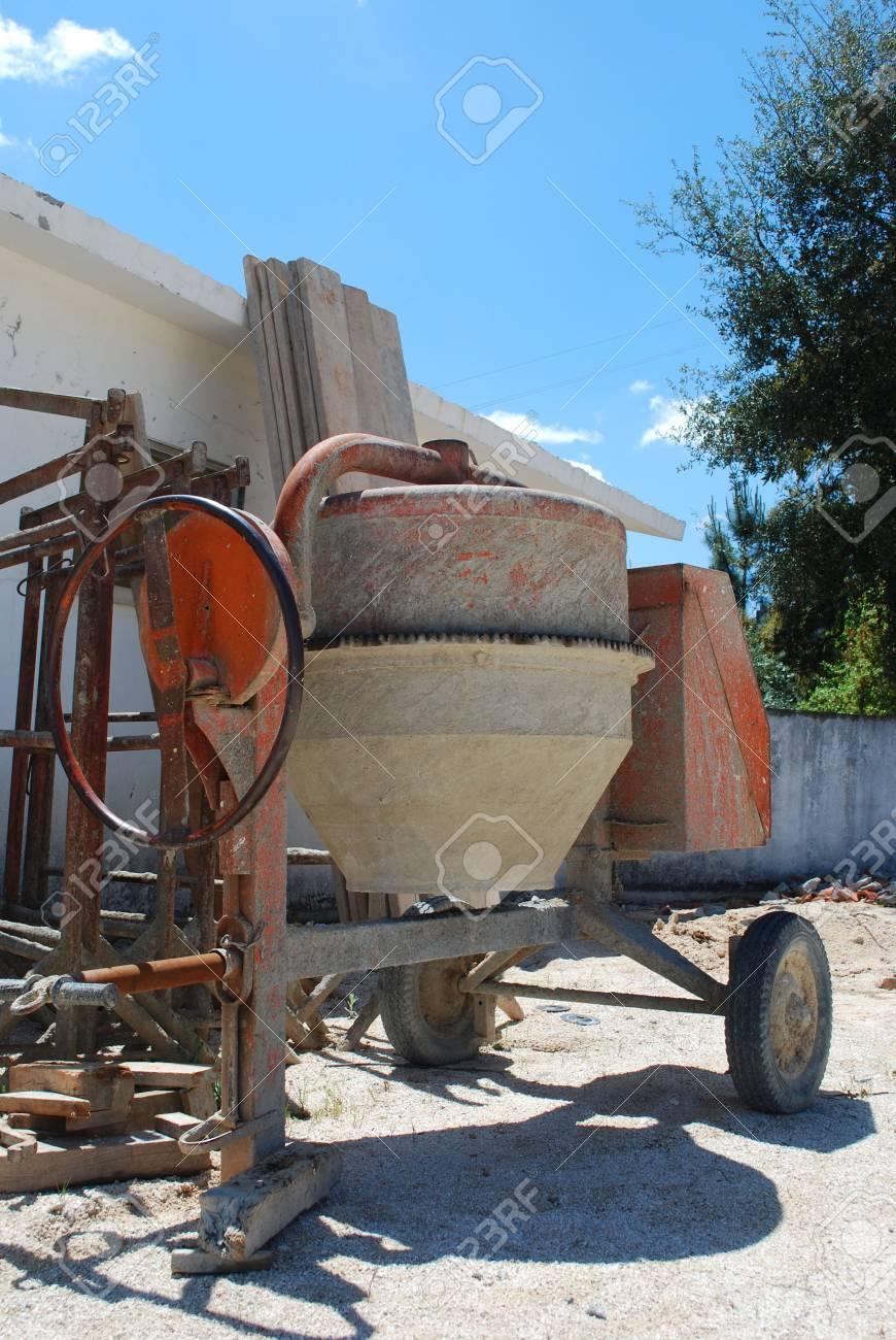 Orange Cement Mixer Orange Cement Mixer at a