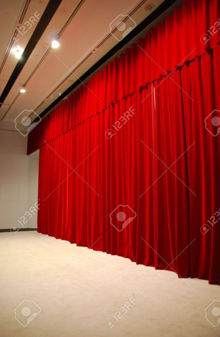 Stock photo dramatic red old fashioned elegant theater stage stock - Dramatic Arts Retro And Elegant Red Theater Stage Curtains And Stage