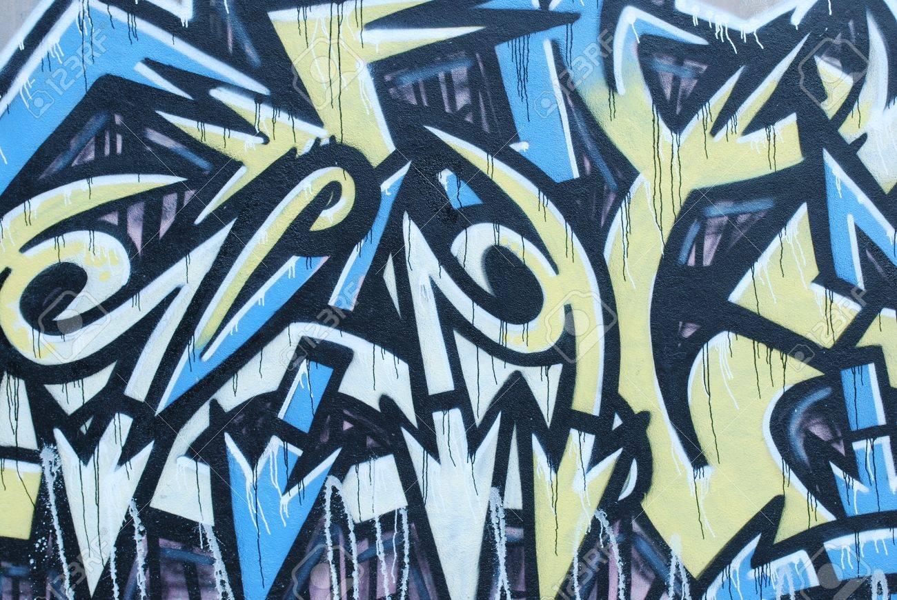 LISBON, APRIL 2 2009: colorful segment of a graffiti in Amoreiras quarter on a public road in LISBON, PORTUGAL Stock Photo - 9063123