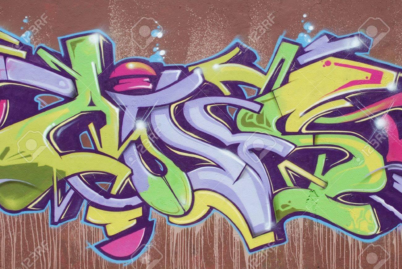 Graffiti wall tattoo - Wall Tattoo Lisbon April 2 2009 Colorful Segment Of A Graffiti In Amoreiras