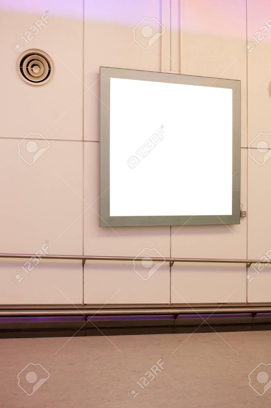 empty billboard at a international airport Stock Photo - 10530351