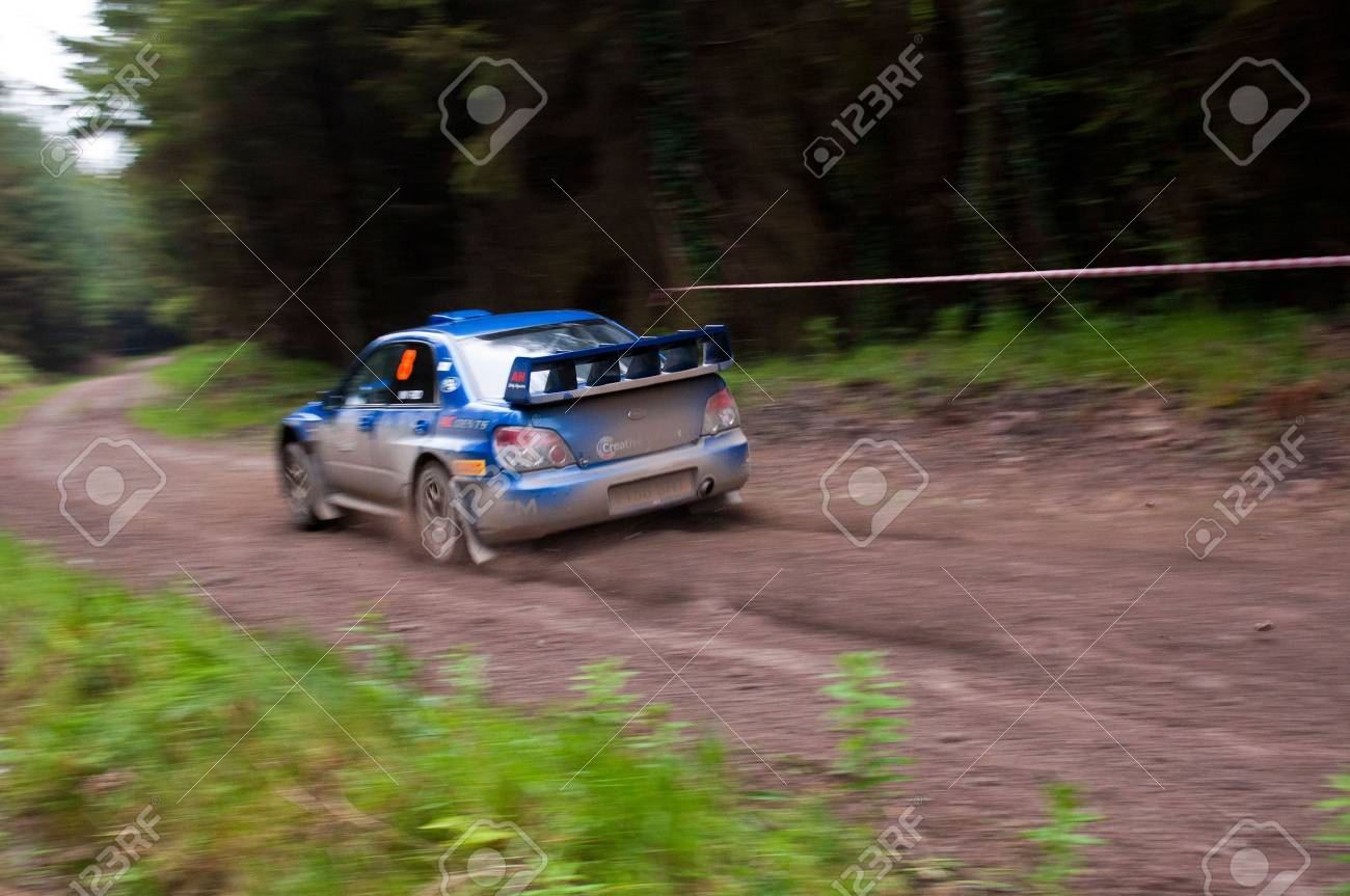 MALLOW, IRELAND - MAY 19: M. Cairns driving Subaru Impreza at the Jim Walsh Cork Forest Rally on May 19, 2012 in Mallow, Ireland. 4th round of the Valvoline National Forest Rally Championship. Stock Photo - 13760614