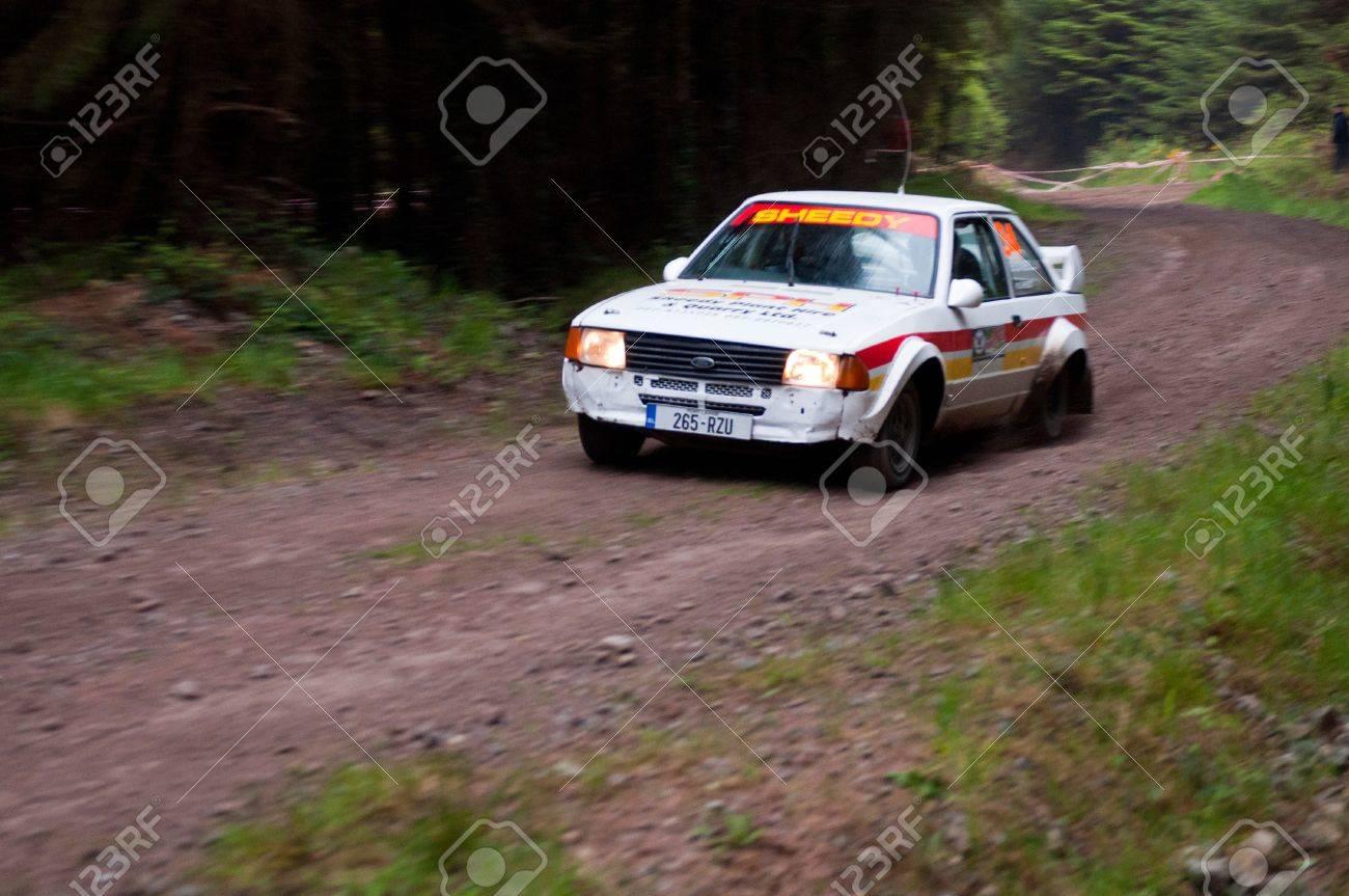 MALLOW, IRELAND - MAY 19: M. Sheedy Driving Ford Escort At The ...