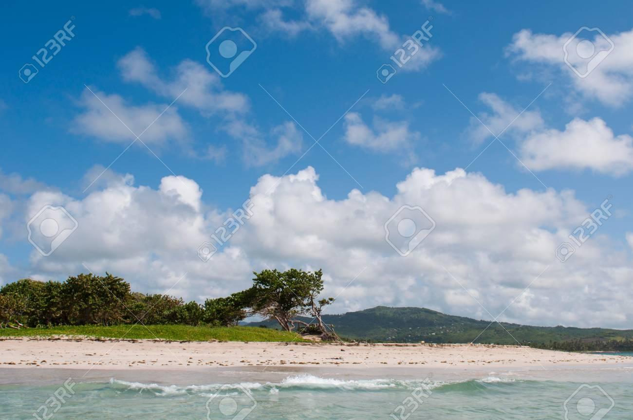 deserted sandy beach at Vieux Fort, Saint Lucia Stock Photo - 16493785