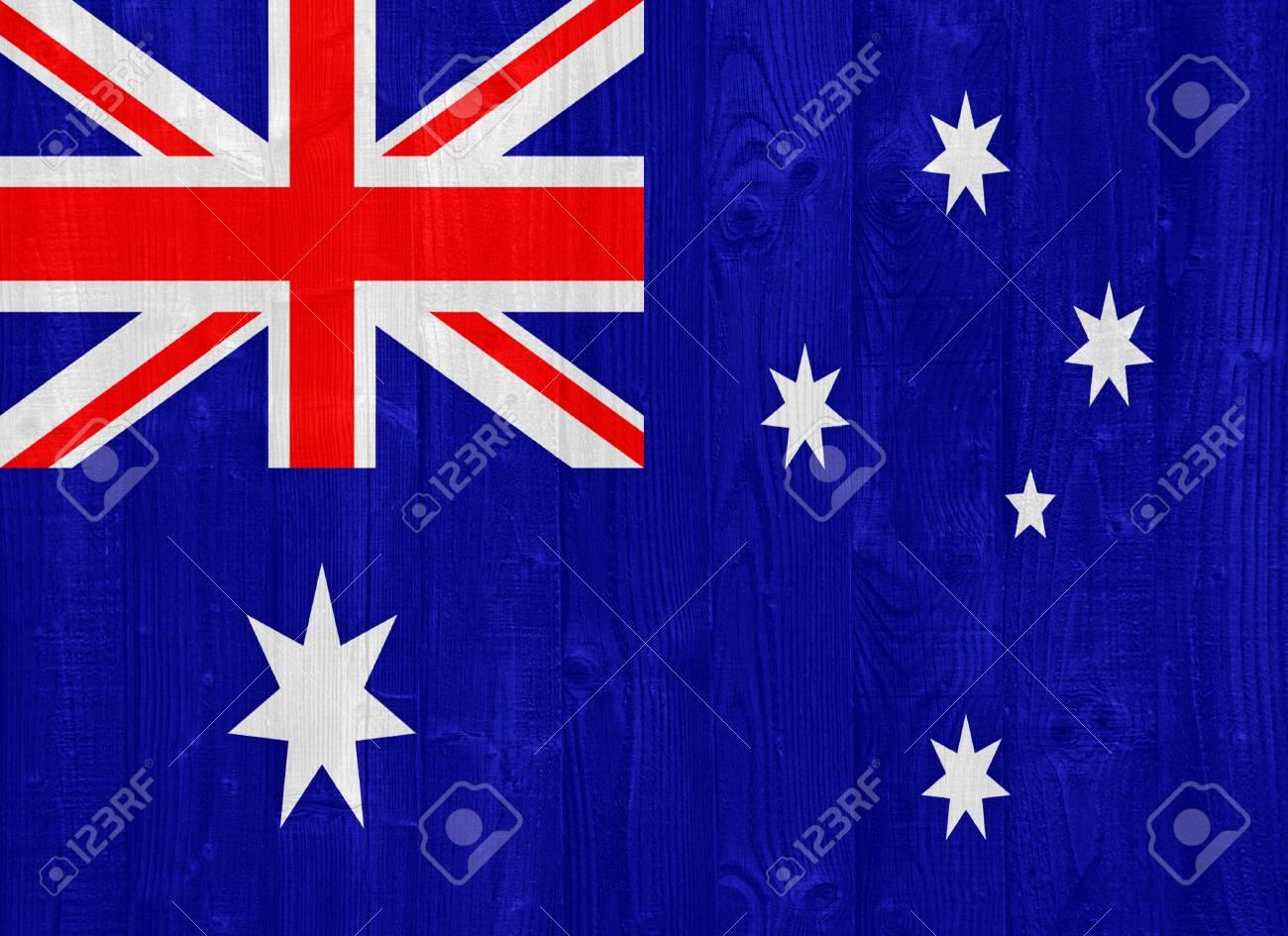 gorgeous Australia flag painted on a wood plank texture Stock Photo - 22413252
