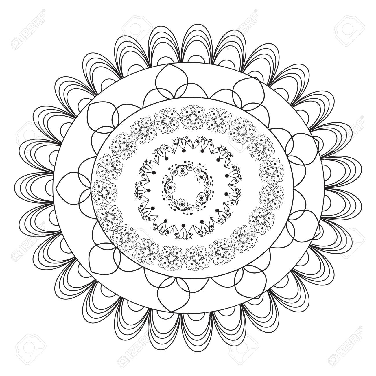 Flower Mandala coloring page | Free Printable Coloring Pages | 1300x1300