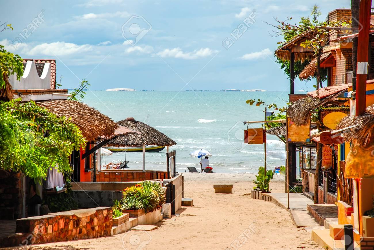 Jericoacoara is a virgin beach hidden behind the dunes of the west coast of Jijoca de Jericoacoara, Ceará, Brazil - 109437651