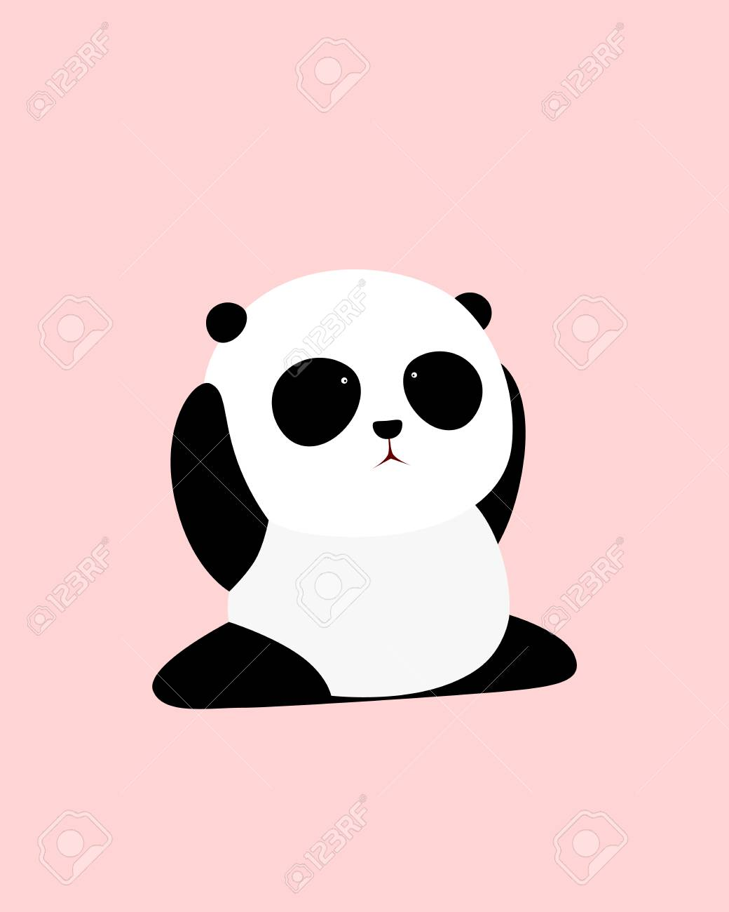 A Cute Cartoon Giant Panda Is Sitting On The Ground Doing Splits Royalty Free Cliparts Vectors And Stock Illustration Image 103511230