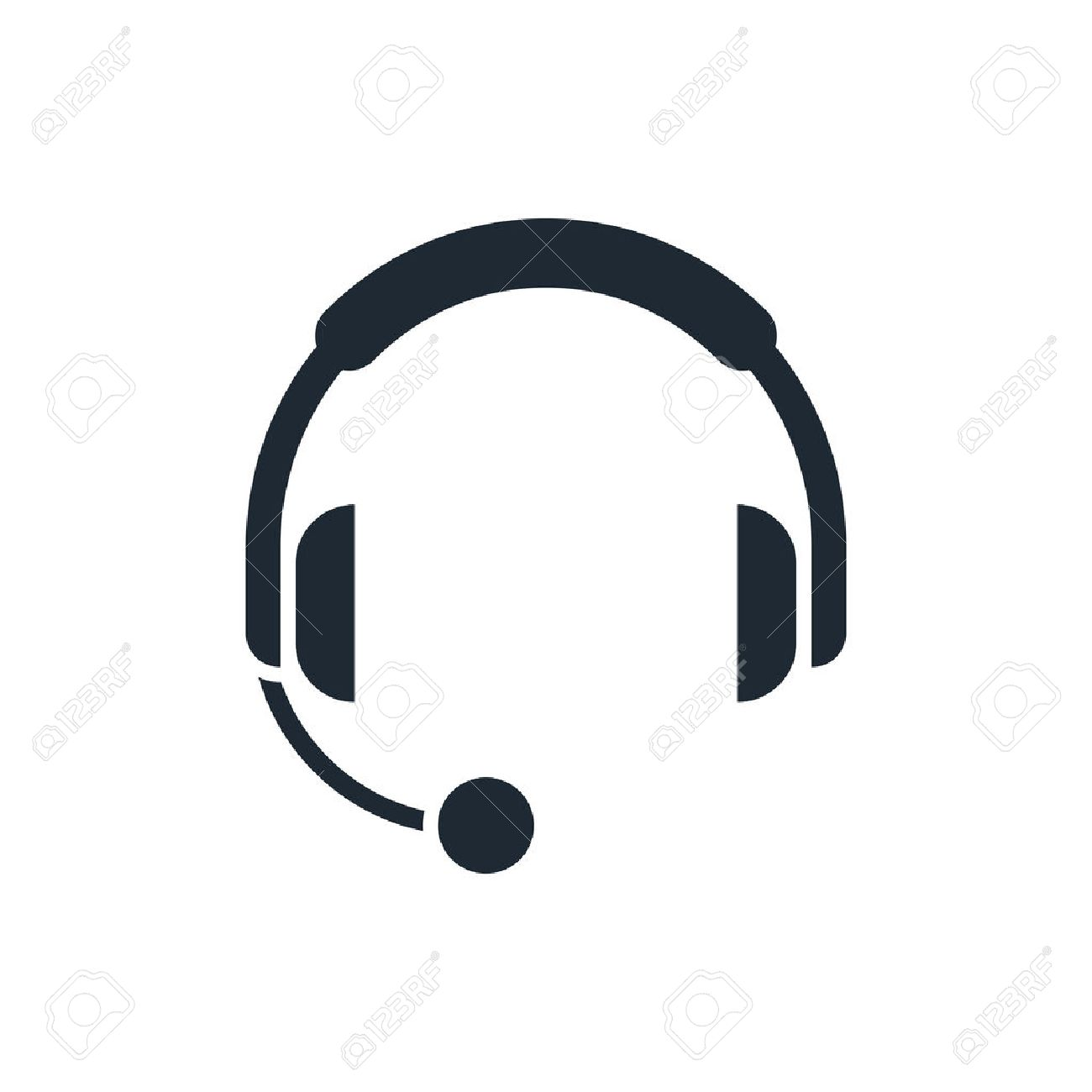 Headphones With Microphone Icon Royalty Free Cliparts, Vectors, And ...
