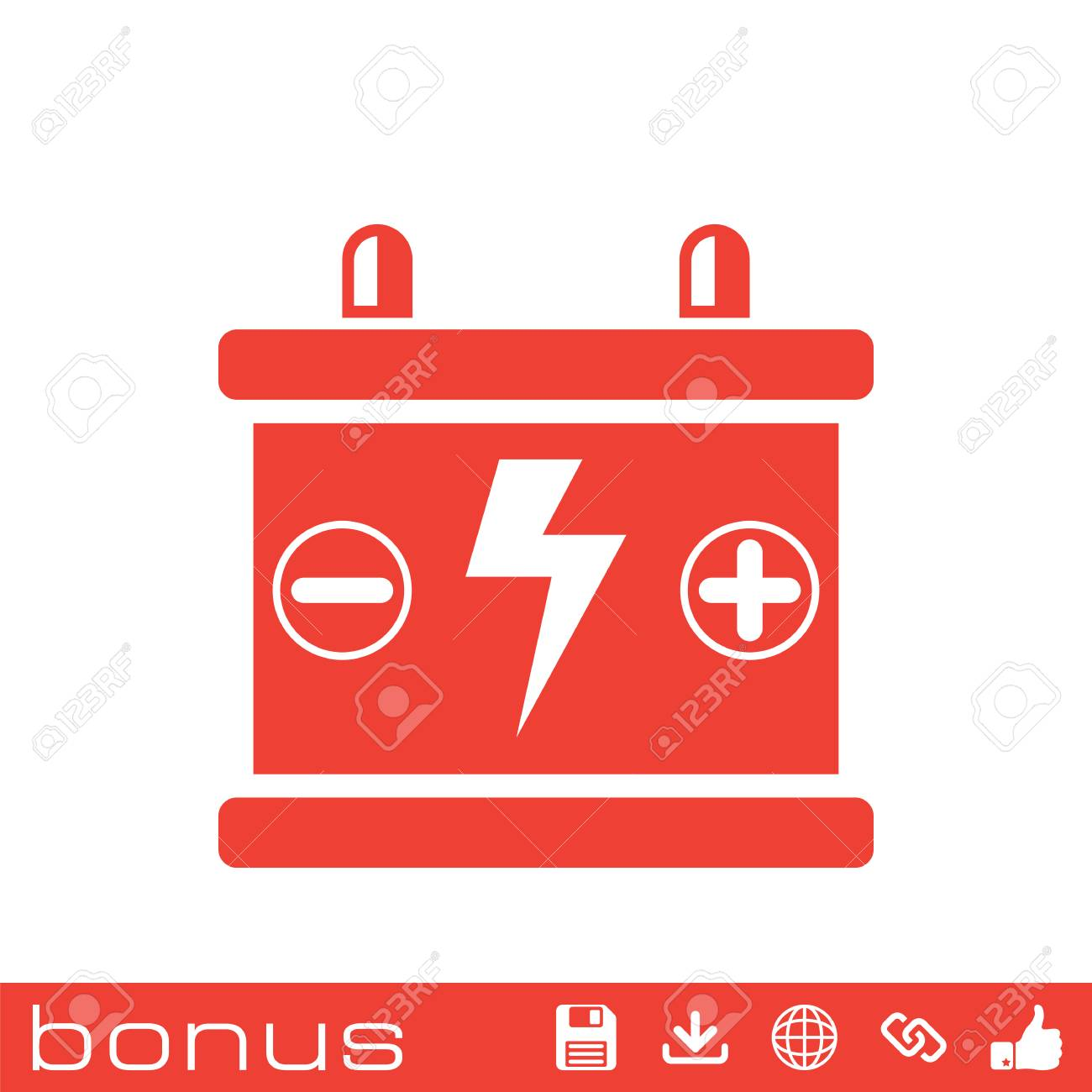 Car Battery Icon Royalty Free Cliparts Vectors And Stock