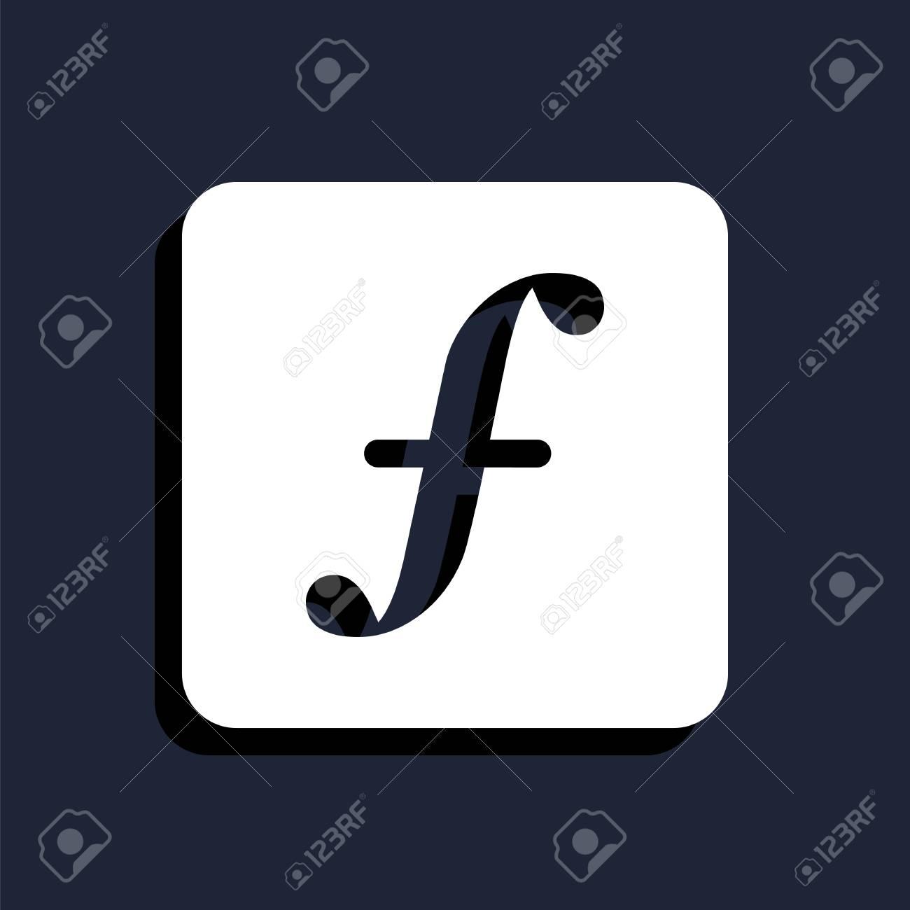 Lettre F Icône Clip Art Libres De Droits , Vecteurs Et Illustration ...
