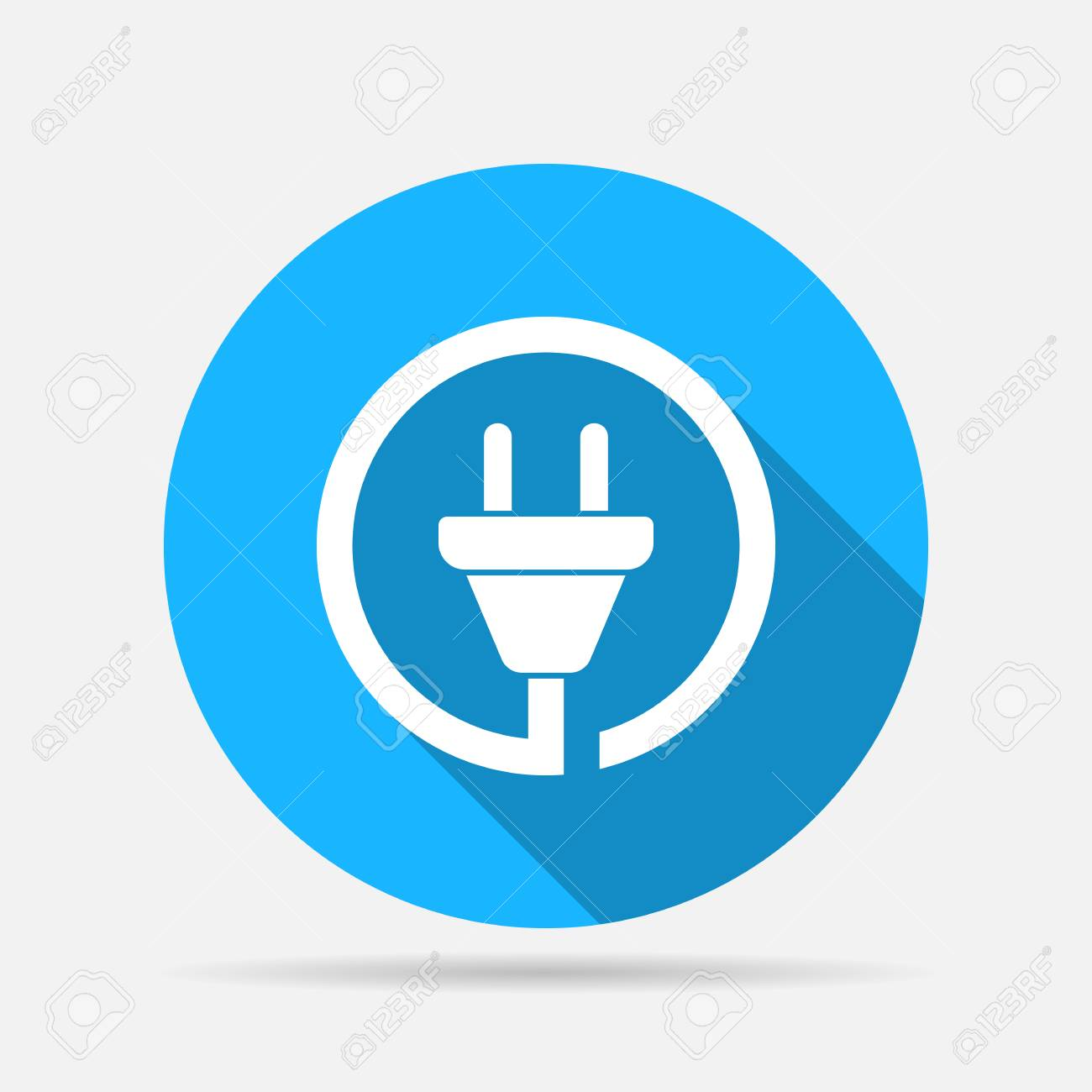 Wire Plug Icon Royalty Free Cliparts, Vectors, And Stock ...