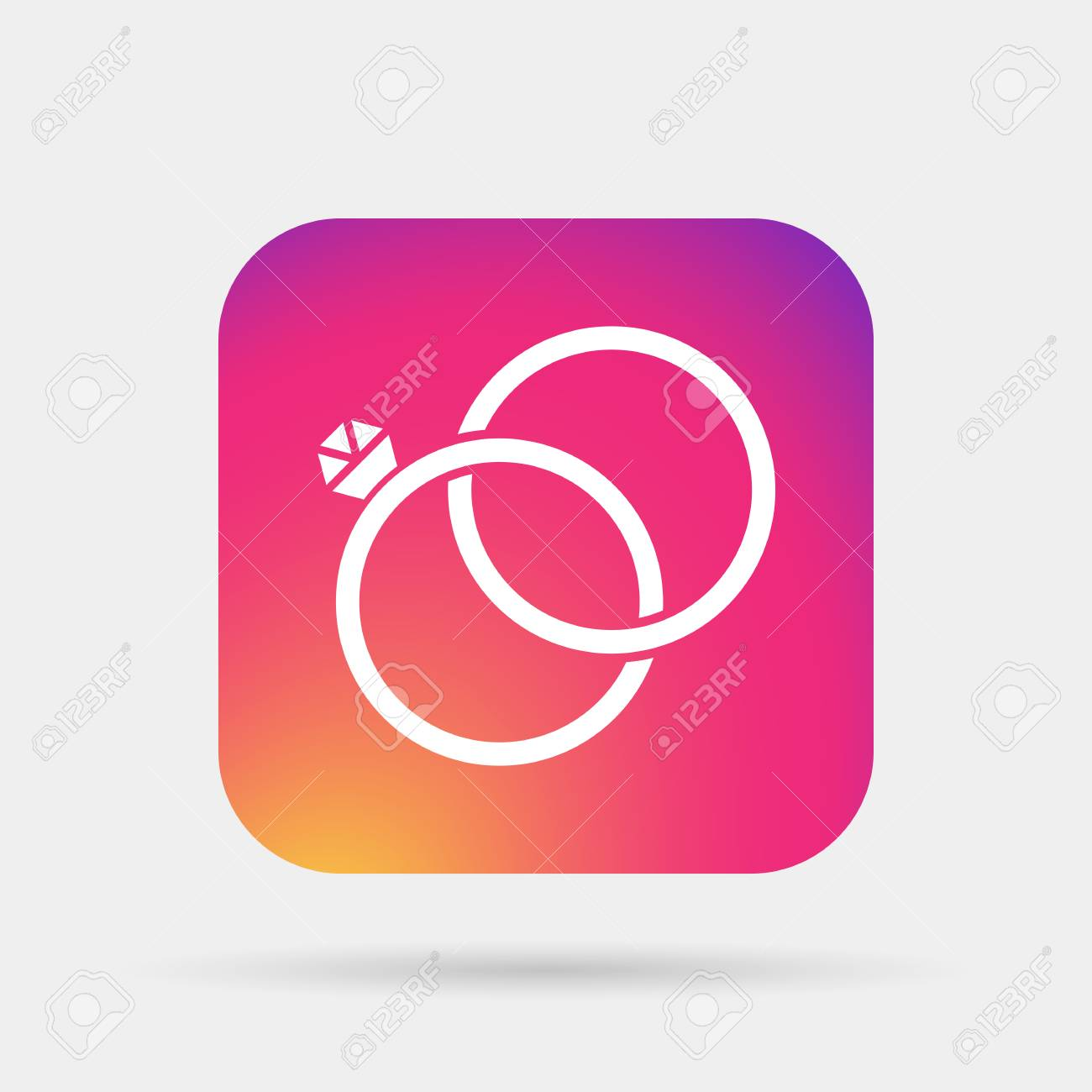 Wedding Rings Icon Royalty Free Cliparts, Vectors, And Stock ...