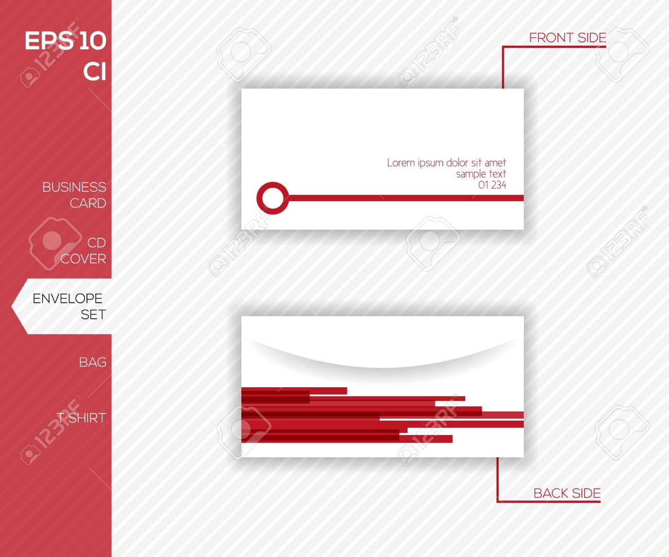 Abstract Envelope Design Template Royalty Free Cliparts, Vectors