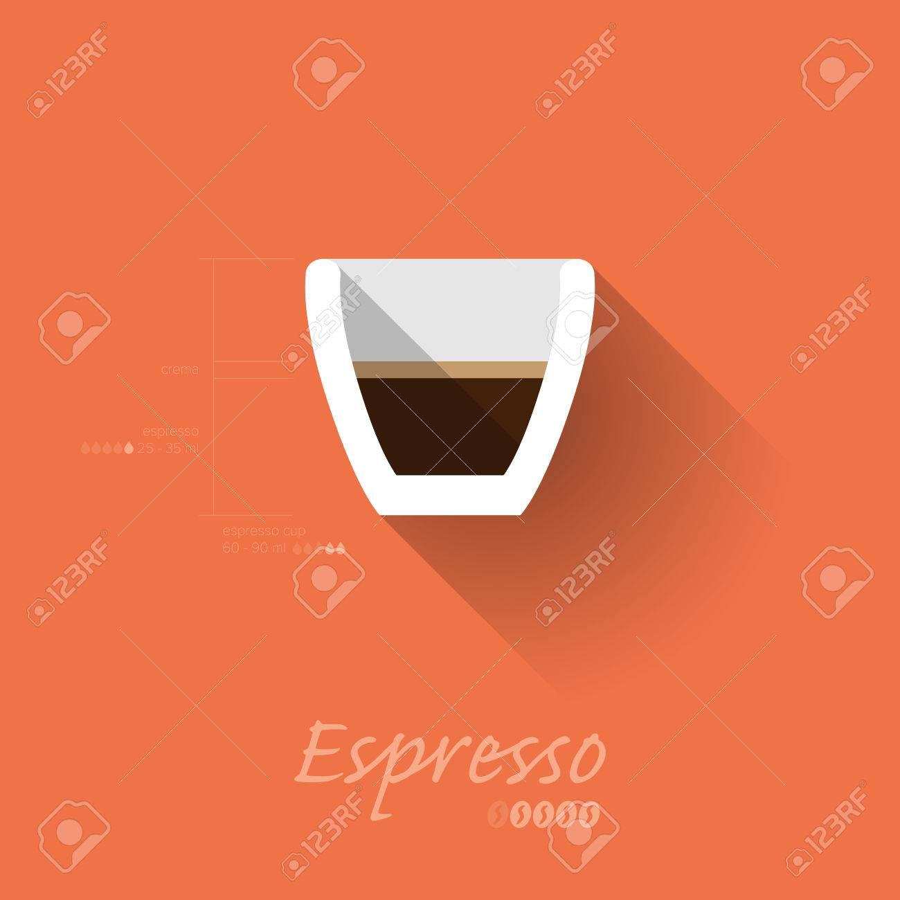 Simple Modern Espresso Manual Wallpaper - Flat Design - Vector Illustration Stock Vector - 24393856