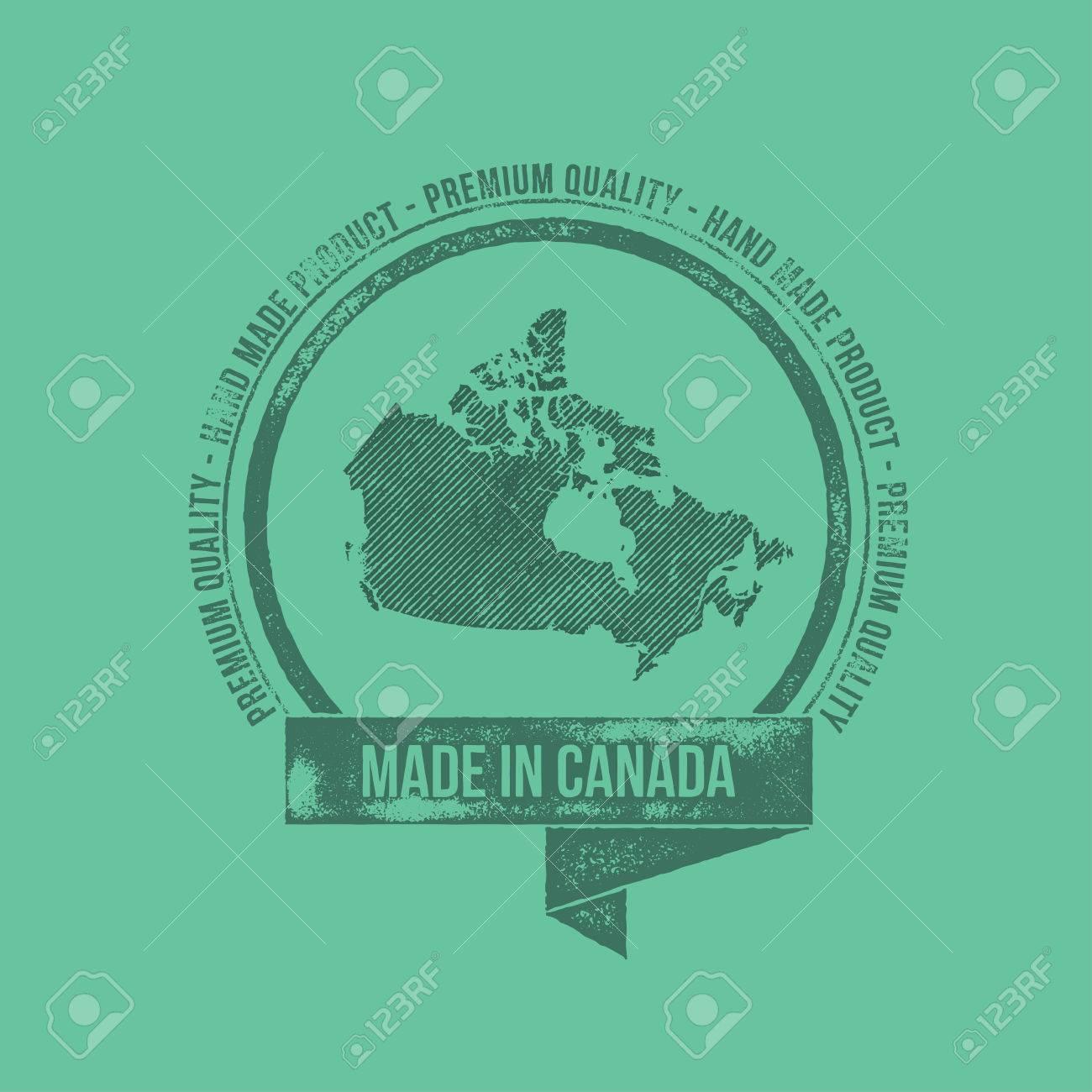 Shirt design canada - Made In Canada Retro Vintage Dirty Badge Label T Shirt Design Hand Made