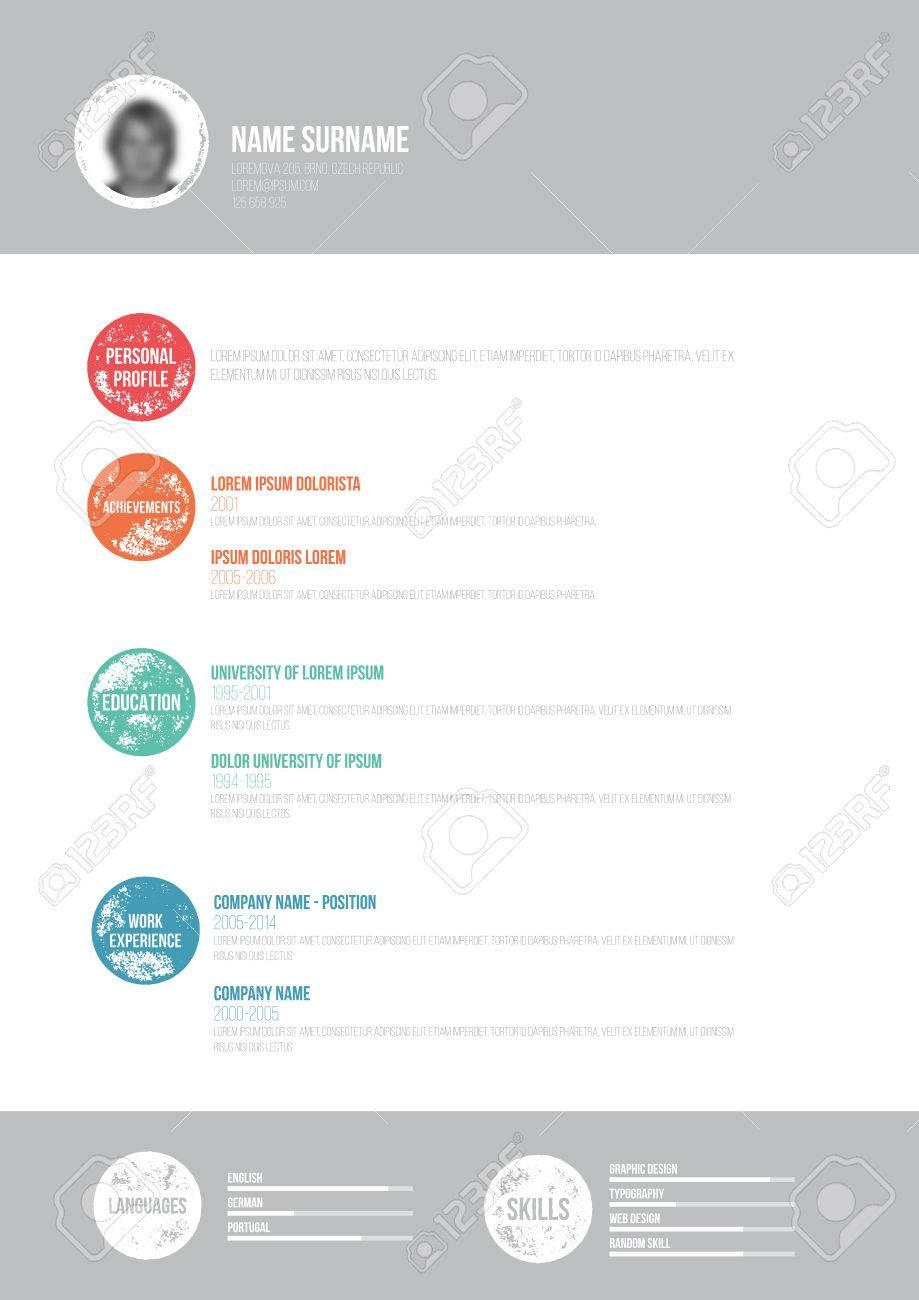 CV Retro Minimal - Vector Ilustración - Plantilla De Curriculum ...