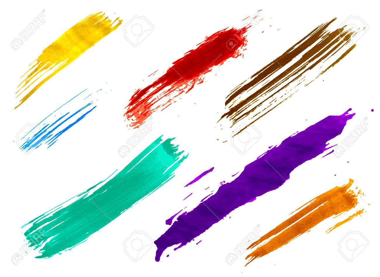set of colorful watercolor brushes Stock Vector - 22772039