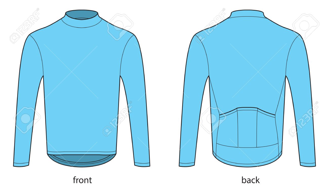 Long sleeve bicycle jersey template Stock Vector - 59069067 6030a3726