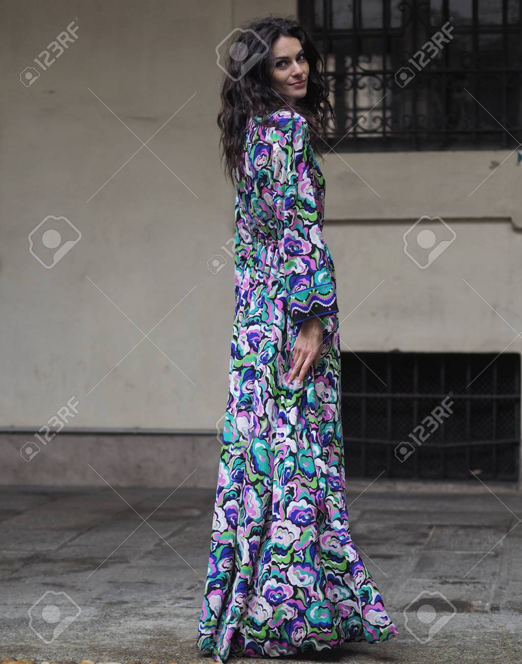 Milan February 22 2018 Actress Paola Turani Posing For Photographers Stock Photo Picture And Royalty Free Image Image 103139644