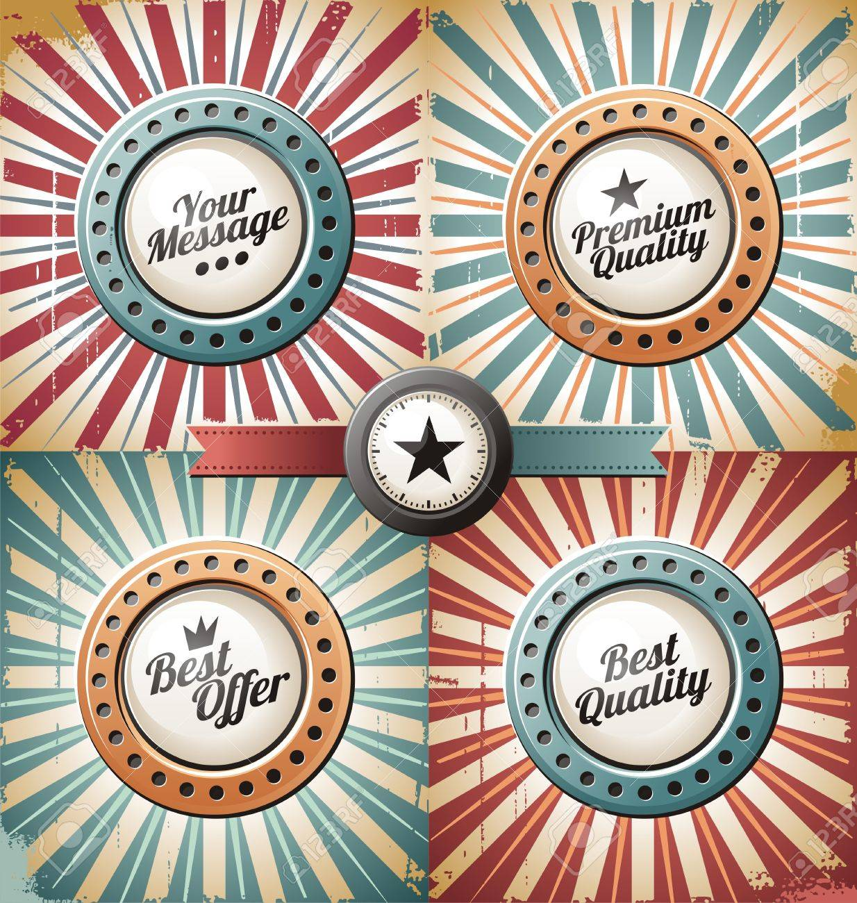 Retro and vintage backgrounds and labels Stock Vector - 15886747