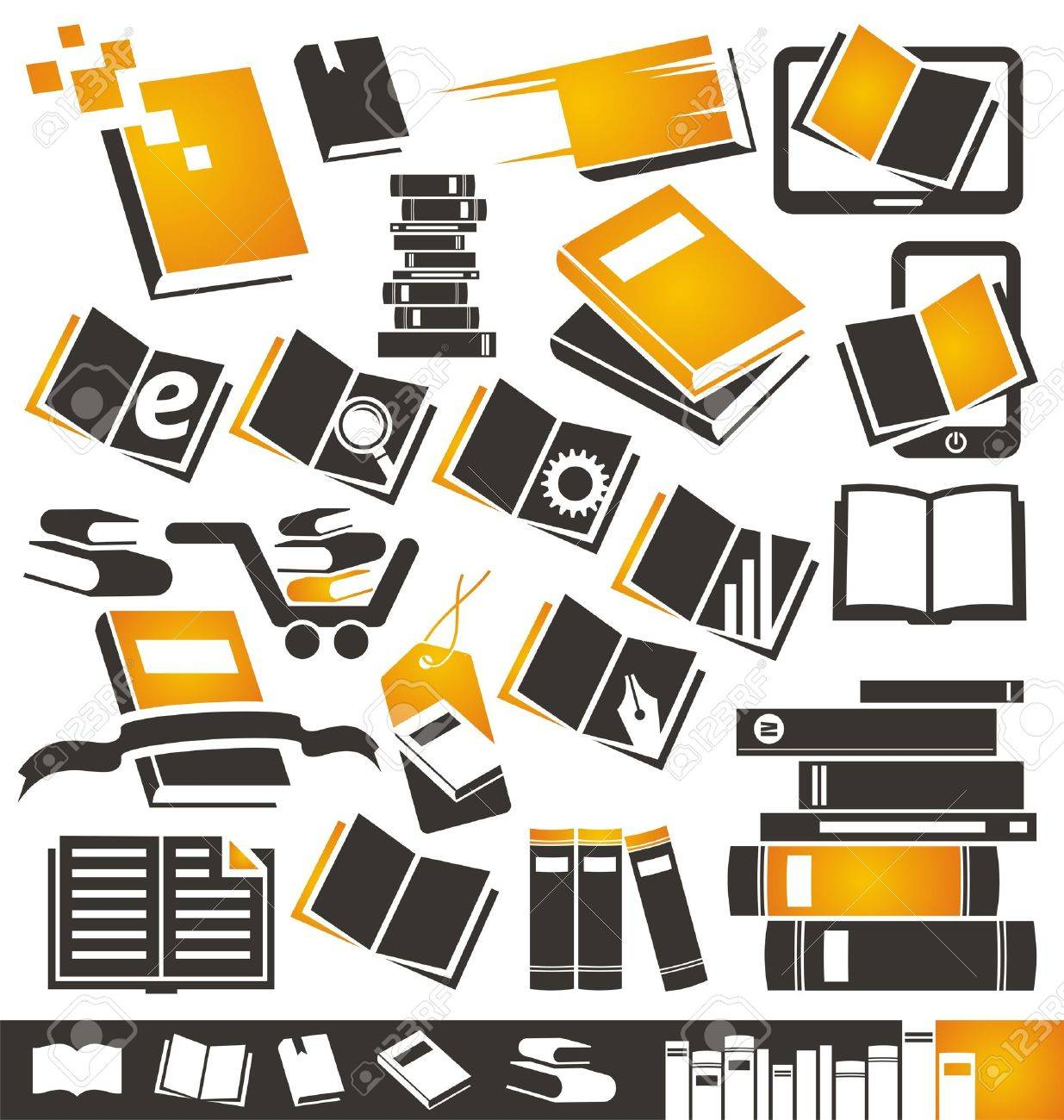 Book icons set Stock Vector - 16431487