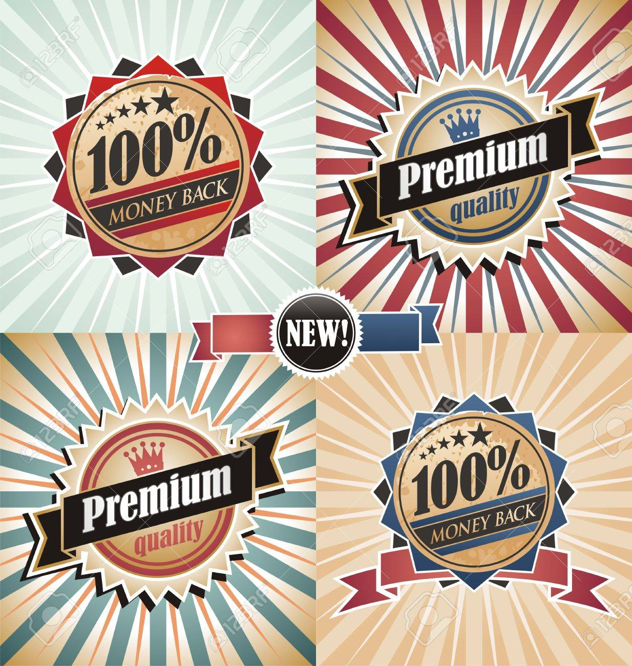 Vintage quality and guaranteed backgrounds and labels Stock Vector - 16714747