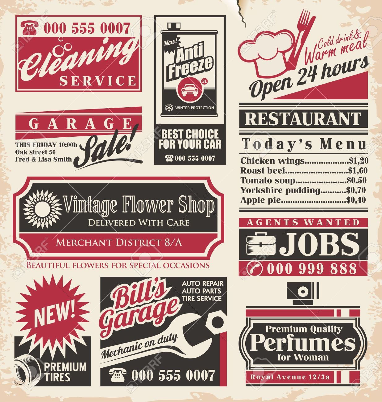 Retro newspaper ads design template collection of vintage retro newspaper ads design template collection of vintage advertisements old paper texture layout with promotional creative saigontimesfo