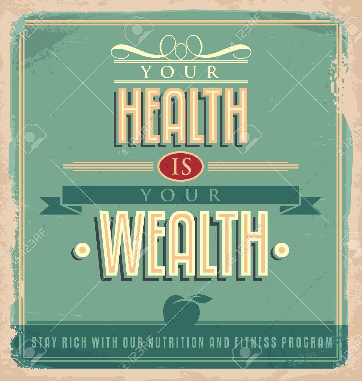 Poster design health - Vintage Poster Design With Motivational Message Stock Vector 24442358