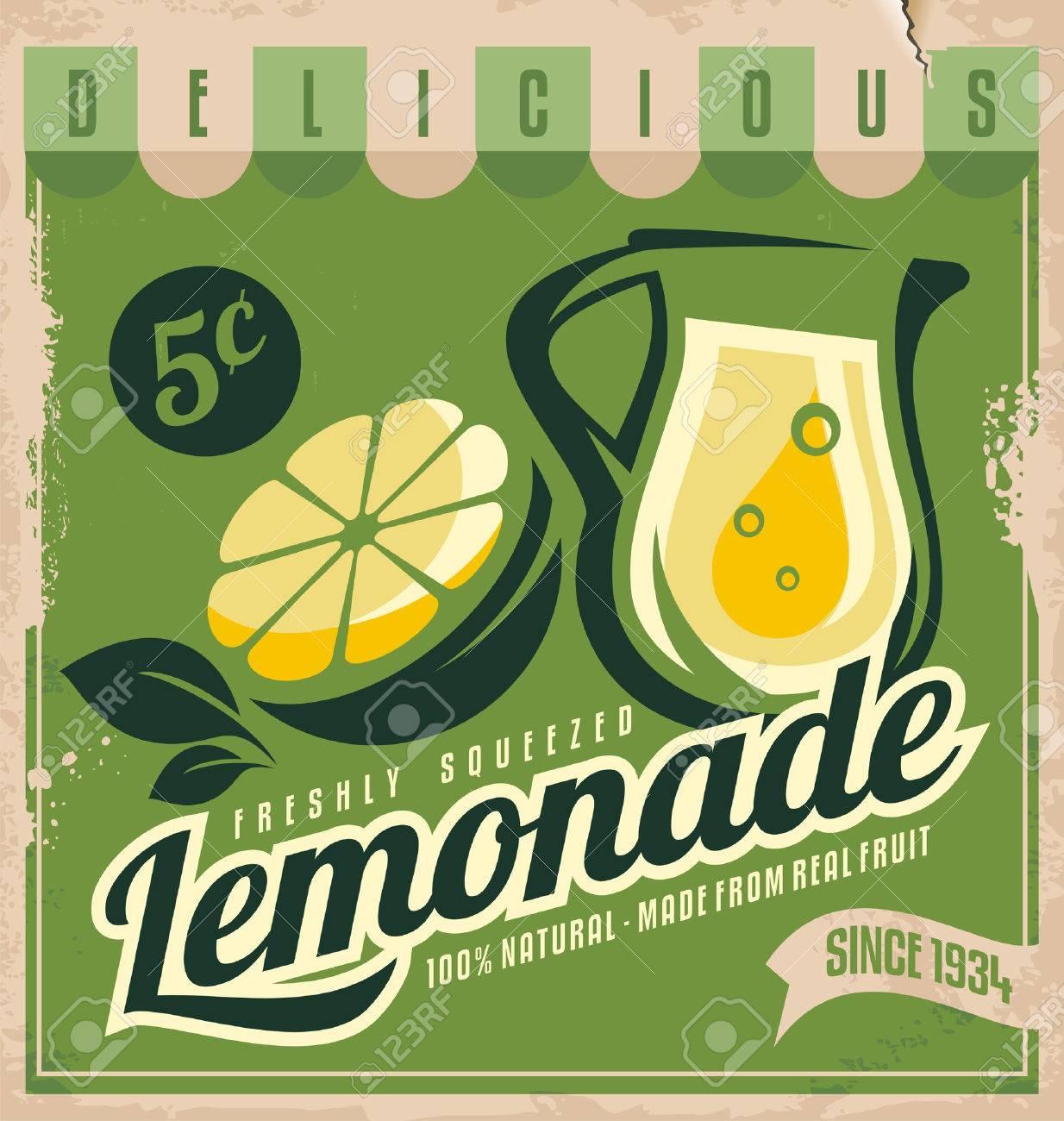 Vintage poster template for lemonade - 29497643