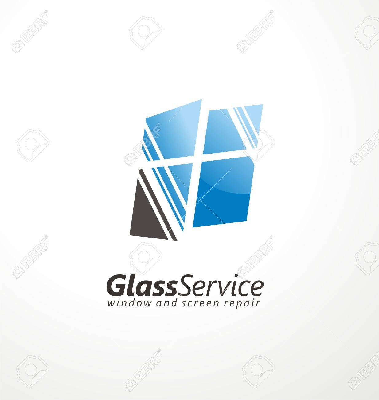 de131f76f20 Glass service symbol layout Stock Vector - 50937537
