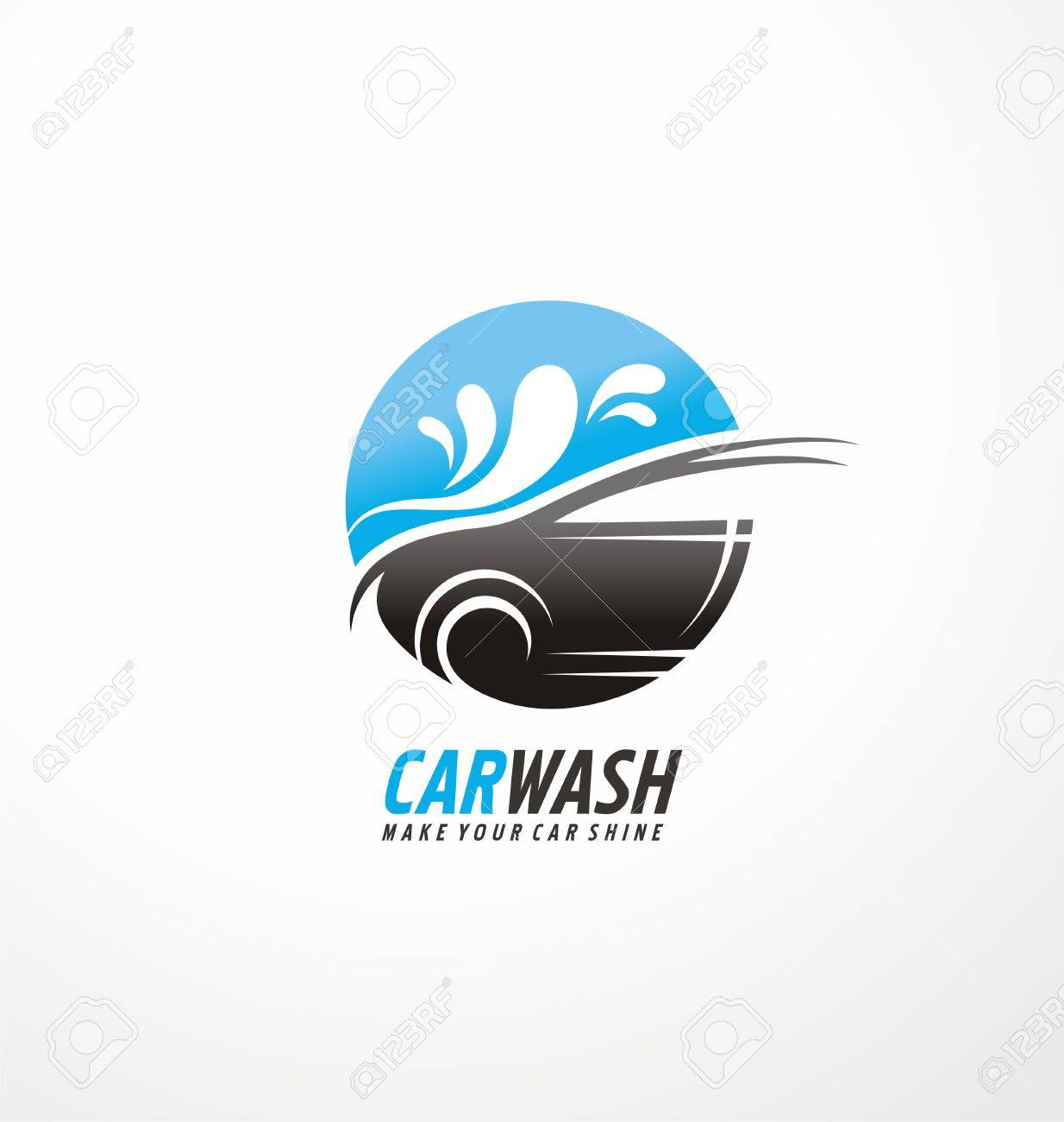 Creative Symbol Design Concept For Car Wash And Auto Cosmetics