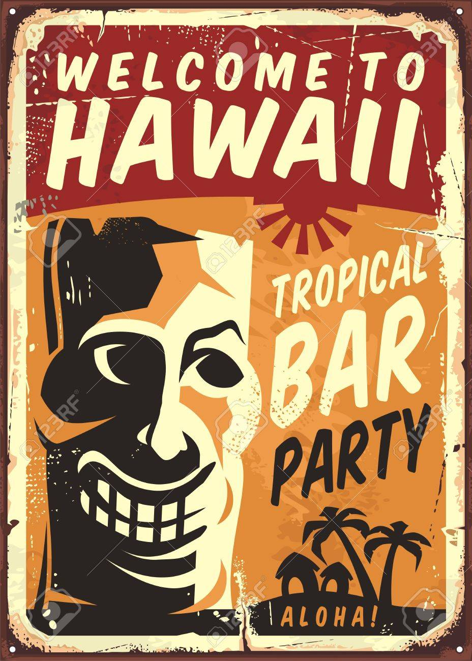 Retro  Metal Sign = Tropical Bar DOLLS HOUSE