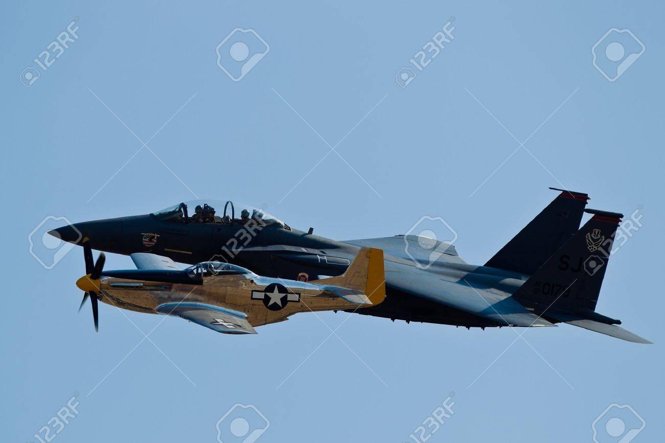 SACRAMENTO, CA - SEPT 10: P-51 Mustang World War II aircraft