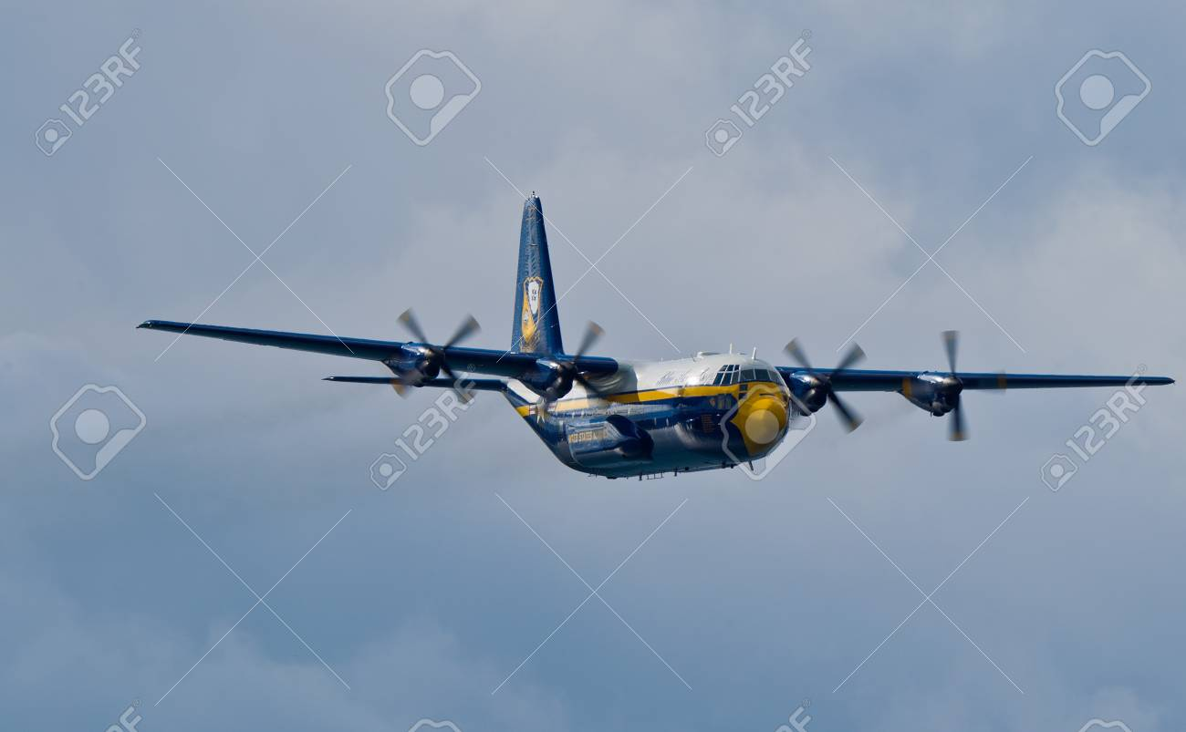 SAN FRANCISCO, CA - OCTOBER 6: USMC Lockheed-Martin C-130T Hercules, affectionately known as Fat Albert Airlines is on display during 2011 San Francisco Fleet Week on October 6, 2011 in San Francisco, CA.  Stock Photo - 11887370