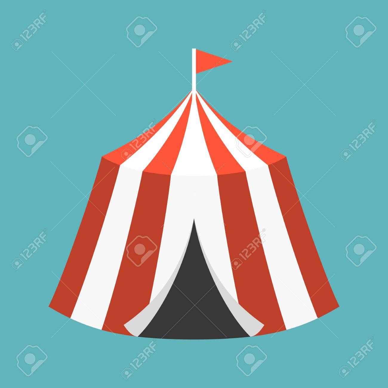 Retro Circus tent flat design Stock Vector - 57915899  sc 1 st  123RF Stock Photos & Retro Circus Tent Flat Design Royalty Free Cliparts Vectors And ...