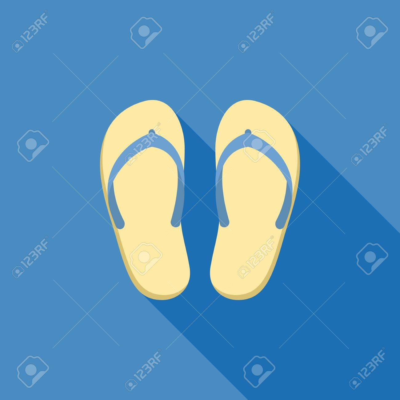 Sandal Illustration Symbol Of Beach Sea Holiday And Travel For