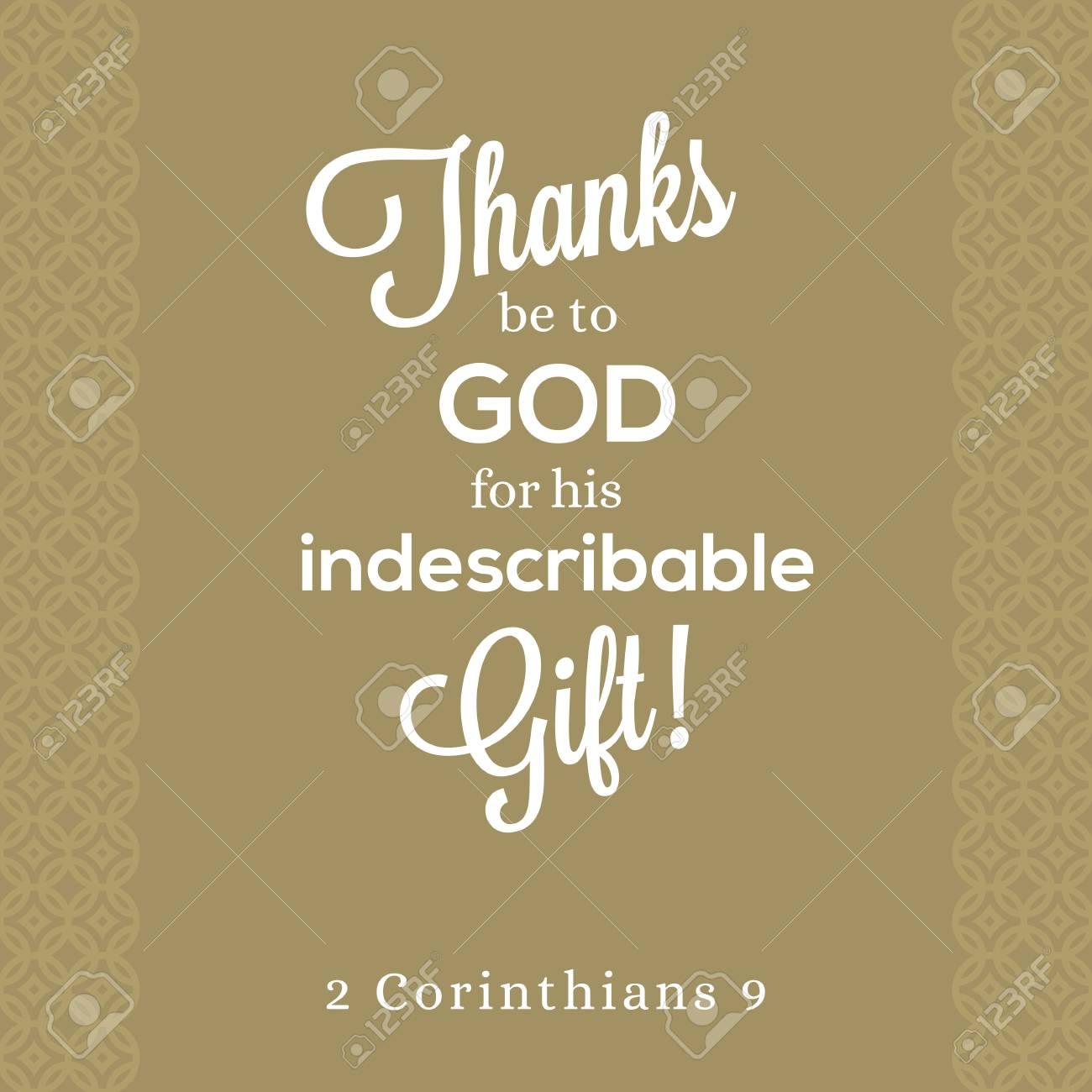Bien-aimée Grâce à Dieu Pour Son Cadeau Indescriptible De 2 Corinthiens #IV_98