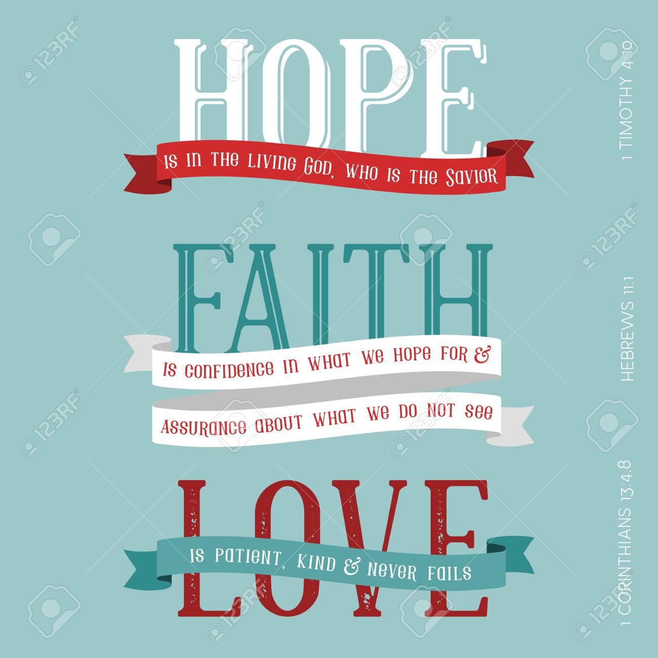 Esperanza Fe Significado Del Amor De La Biblia Título De La