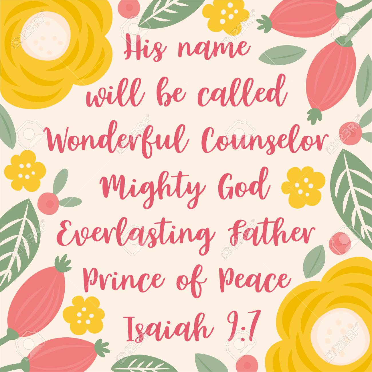 Jesus Christmas Quote.Bible Quote From Isaiah About Jesus For Christmas Holidays With