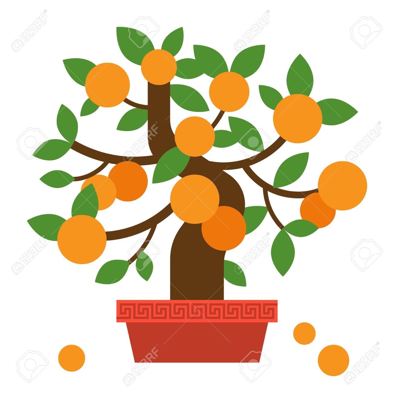 chinese orange bonsai tree flat design for lunar new year royalty free cliparts vectors and stock illustration image 94822322 chinese orange bonsai tree flat design for lunar new year
