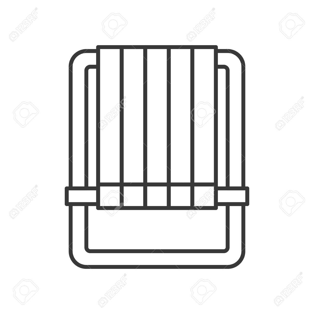 Beach Chair Thin Line Vector Icon On White Background Lizenzfrei