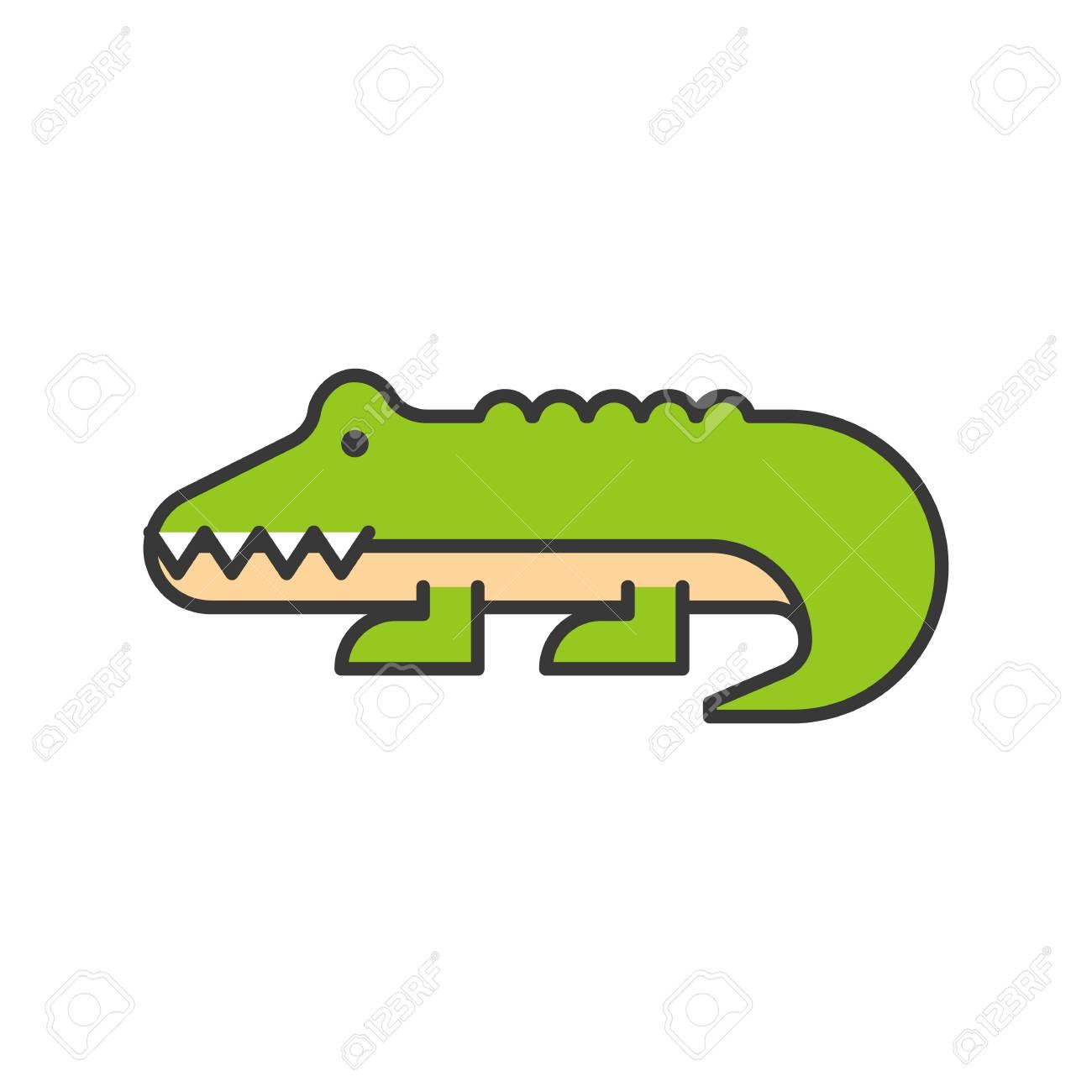 0529442d779d0 Alligator Or Crocodile Vector