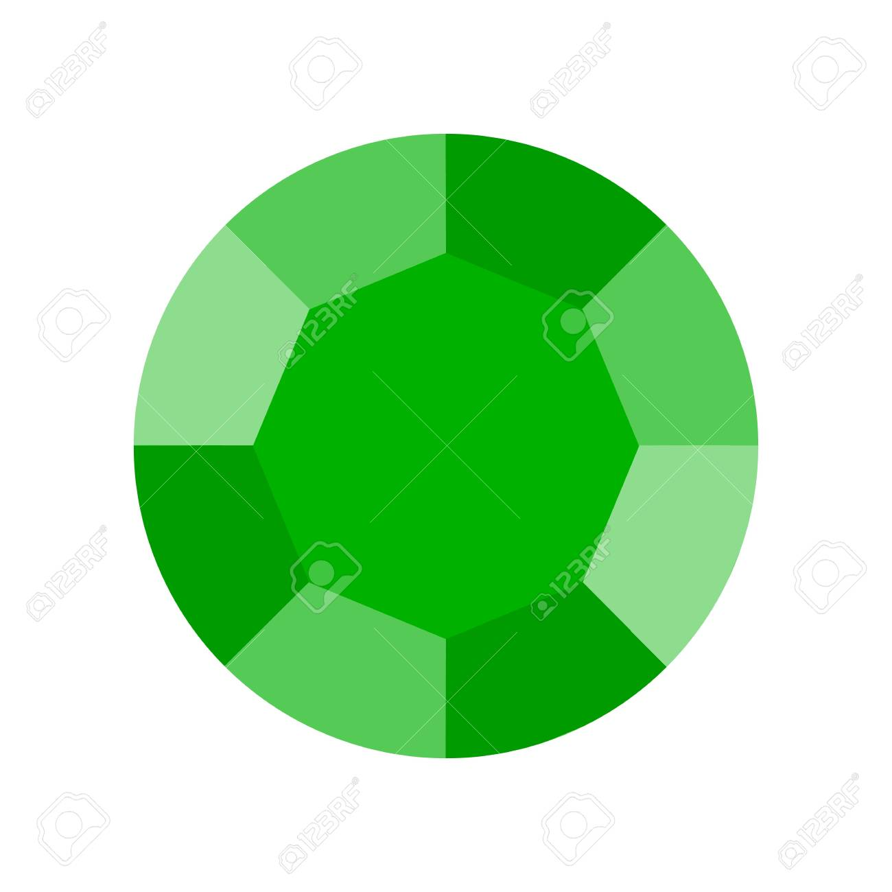 green emerald, jewelry related icon, flat design. - 112324458