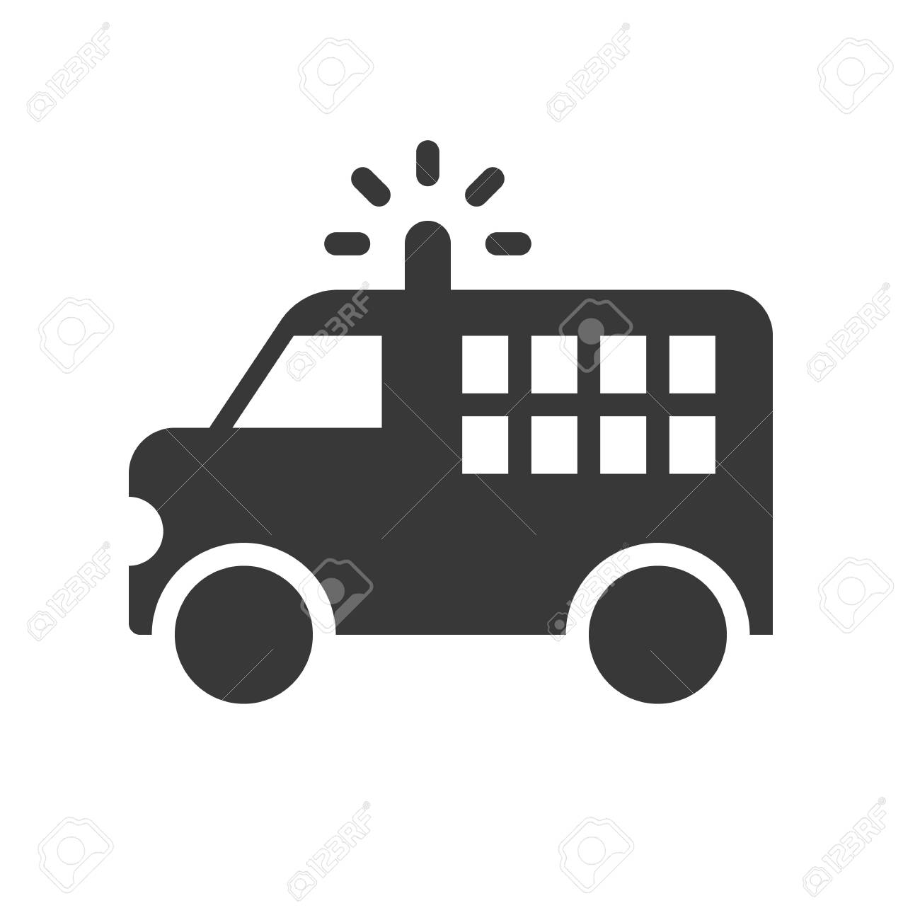 Prisoner Transport Van >> Prisoner Transport Van Police Related Solid Icon