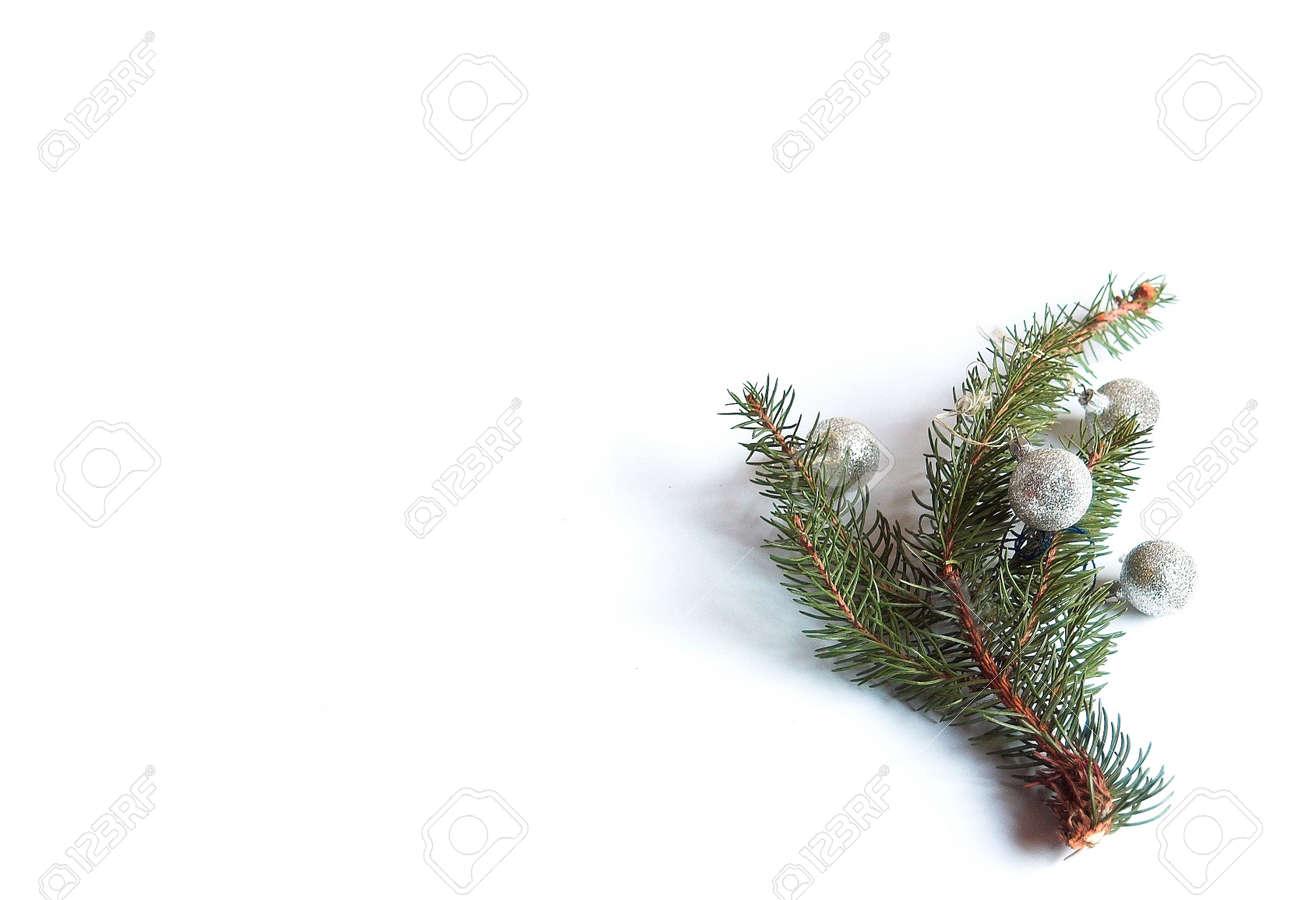 Albero Di Natale Yule.Immagini Stock Natale Albero Di Natale Decorazione Corpus Verde Vacanze Nativita Ago Spray Rametto La Nativita Ramoscello Inverno Xmas Yule Su Bianco Image 658087