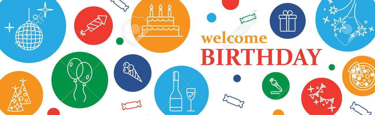 Happy Birthday Card Confetti Cute Fonts Masks Kids Birthday