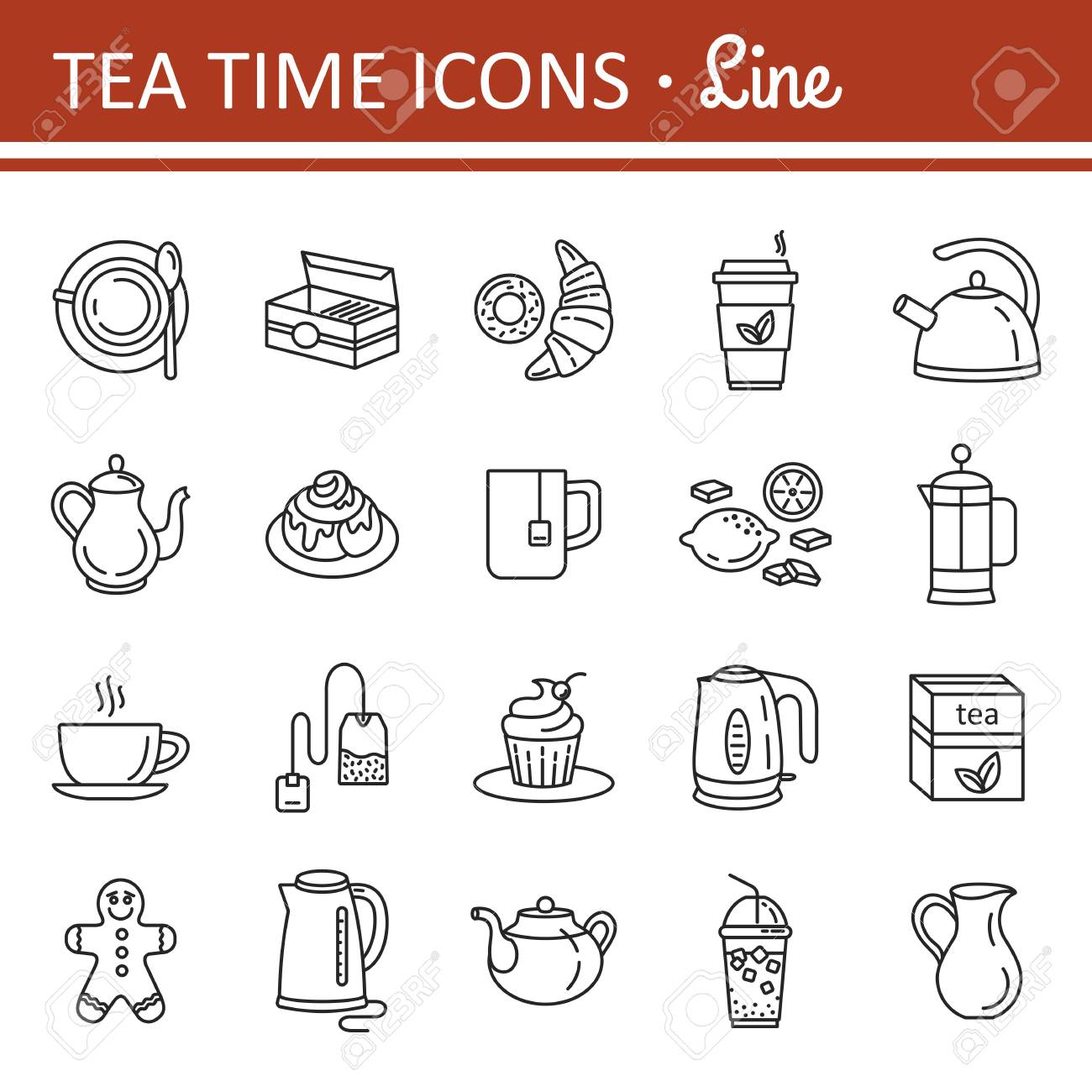 Web De Cocina | Conjunto De Iconos De Web De Contorno Electrodomesticos De Cocina Y