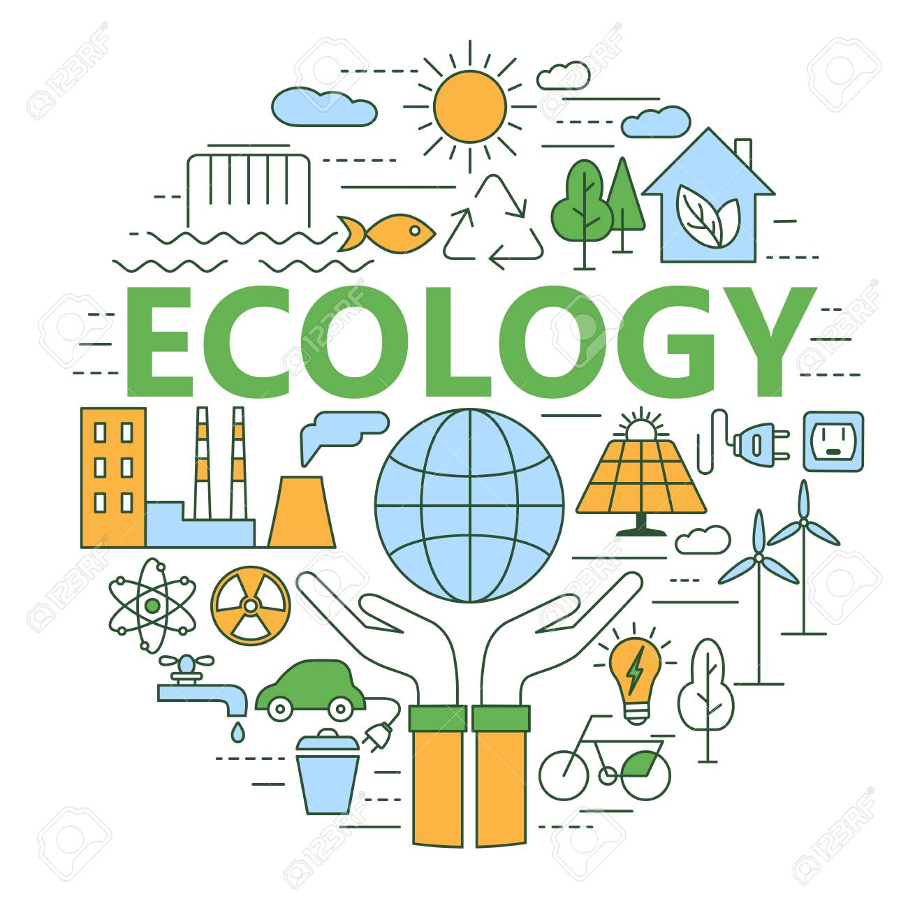 Ecology and environment concept illustration. - 84263161